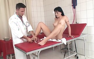 Slut gets beef injection inhibition pussy exam
