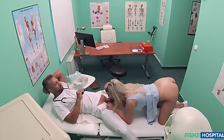 Sienna Day gets the daylights fucked out of her at her doc's meeting