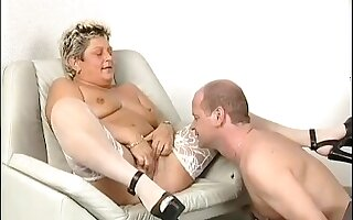 Horny old German woman