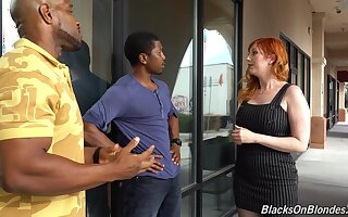 A great deal white milf Lauren Phillips is fucked by two hot blooded dusky guys