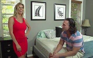 Alexis Fawx and her step- daughters new partner are fucking like wild animals, close to the bedroom