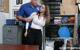 Stunning milf Havana Bleu gets punished be advisable for shoplifting