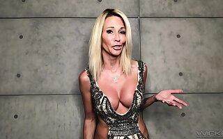 MILF pornstar gives an interview during a lockdown