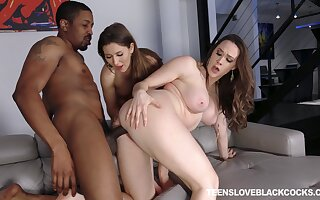 Black learn of FFM triple-date for darlings Chanel Preston and Paige Owens