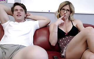 Step Mom down Big Tits Dares me take without equal Lay away in the Perquisite - Cory Chase