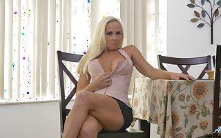 Handsome blonde Dani Dare takes not present her miniskirt to masturbate