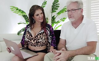 POV video of an older guy making out mature housewife Coralyn Jewel